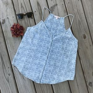 Skies Are Blue Button Up Tank Top